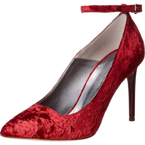 オスカー デ ラ レンタ レディース パンプス シューズ・靴 Roos 90mm Red Crushed Velvet
