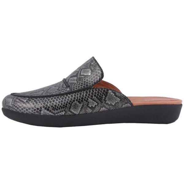 フィットフロップ FitFlop レディース スリッポン・フラット シューズ・靴 Serene Python Print Slip-On Black