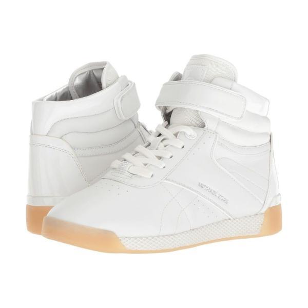 マイケル コース MICHAEL Michael Kors レディース スニーカー シューズ・靴 Addie High Top Optic White Nappa/Patent/Small Air Mesh