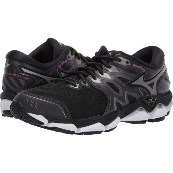 ミズノ Mizuno レディース ランニング・ウォーキング シューズ・靴 Wave Horizon 3 Black/Metallic Shadow