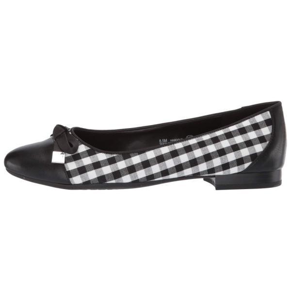 エアロソールズ A2 by Aerosoles レディース スリッポン・フラット シューズ・靴 Handout Black/White Combo Fabric