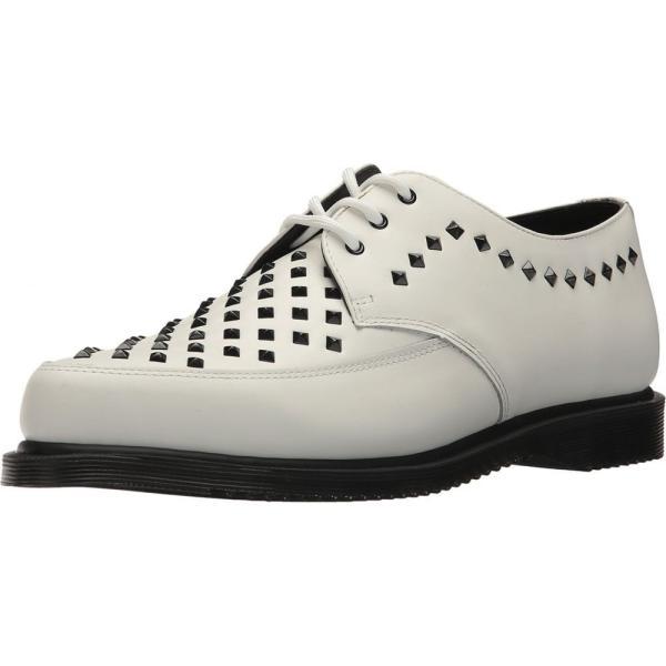 ドクターマーチン Dr. Martens レディース ローファー・オックスフォード シューズ・靴 Willis Stud Creeper White Smooth|fermart2-store|02