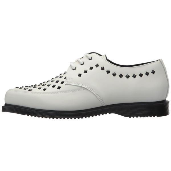 ドクターマーチン Dr. Martens レディース ローファー・オックスフォード シューズ・靴 Willis Stud Creeper White Smooth|fermart2-store|05