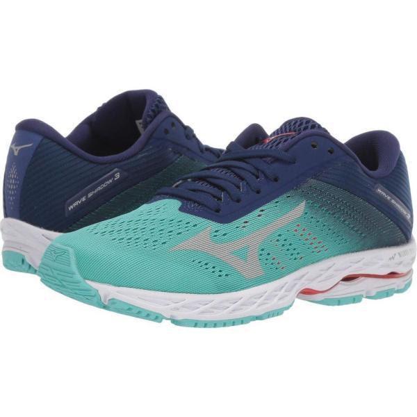 ミズノ Mizuno レディース ランニング・ウォーキング シューズ・靴 Wave Shadow 3 Blue Grass/Glacier Green