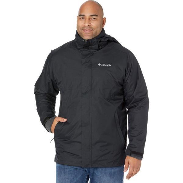 コロンビア Columbia メンズ スキー・スノーボード 大きいサイズ ジャケット アウター Big & Tall Eager Air Interchange Jacket Black/Charcoal Heather