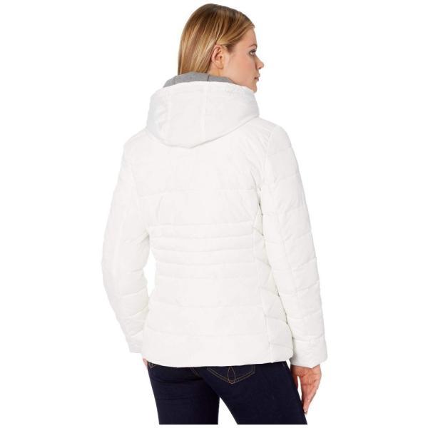 トミー ヒルフィガー Tommy Hilfiger レディース ダウン・中綿ジャケット アウター 25 sweatshirt hoodie puffer White|fermart2-store|03