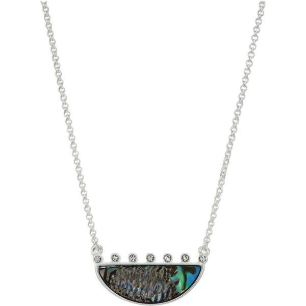 ラッキーブランド Lucky Brand レディース ネックレス ジュエリー・アクセサリー Reversible Abalone Pave Pendant Necklace Two Tone