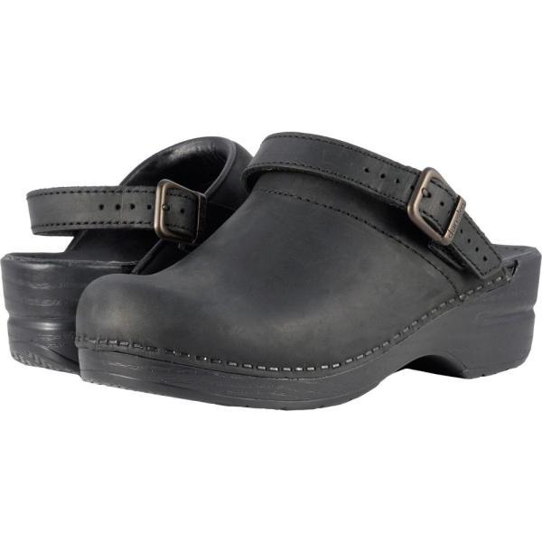 ダンスコ レディース クロッグ シューズ・靴 Ingrid Black Oiled