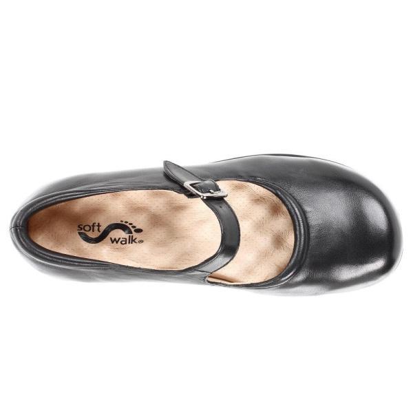 ソフトウォーク レディース スリッポン・フラット シューズ・靴 Jupiter Black Soft Kid