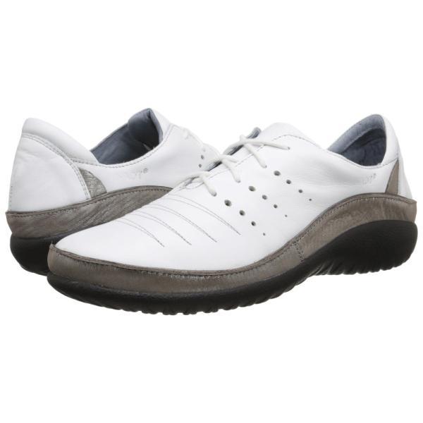 ナオトフットウェアー レディース スニーカー シューズ・靴 Kumara White Leather/Silver Threads Leather