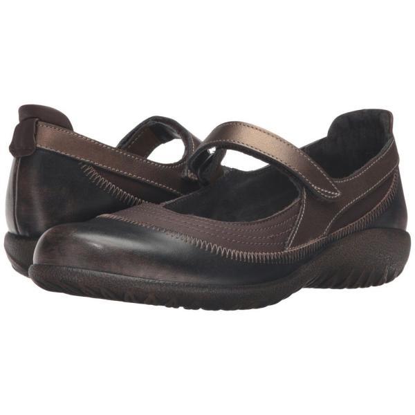 ナオトフットウェアー レディース スリッポン・フラット シューズ・靴 Kirei Brown Shimmer Nubuck/Volcanic Brown Leather/Grecian Gold Leather