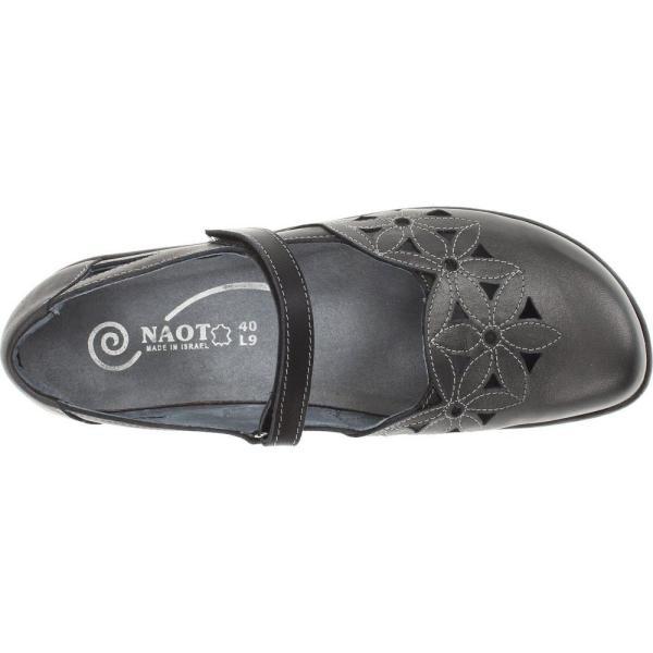 ナオトフットウェアー レディース スリッポン・フラット シューズ・靴 Toatoa Metallic Road Leather/Jet Black Leather