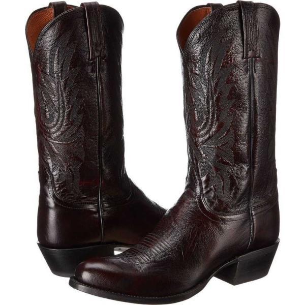 ルケーシー Lucchese メンズ ブーツ シューズ・靴 M1021.R4 Black Cherry Lonestar Calf Cowboy|fermart2-store