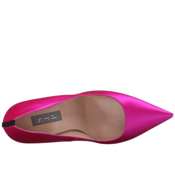 エスジェーピーバイサラジェシカパーカー レディース ヒール シューズ・靴 Fawn 100mm Pink Satin