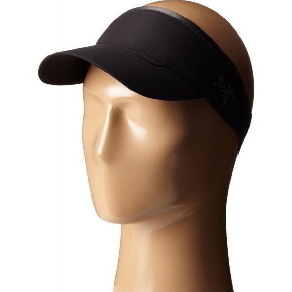 アークテリクス メンズ サンバイザー 帽子 Calvus Visor Black|fermart2-store