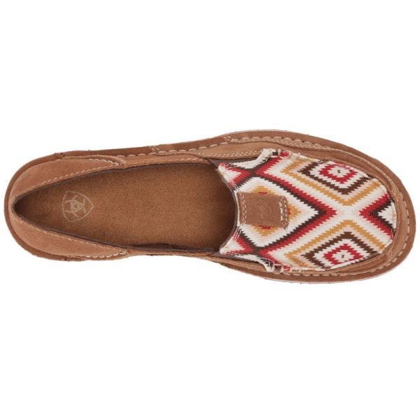 アリアト Ariat レディース ローファー・オックスフォード シューズ・靴 Cruiser New Earth Suede/Red Aztec