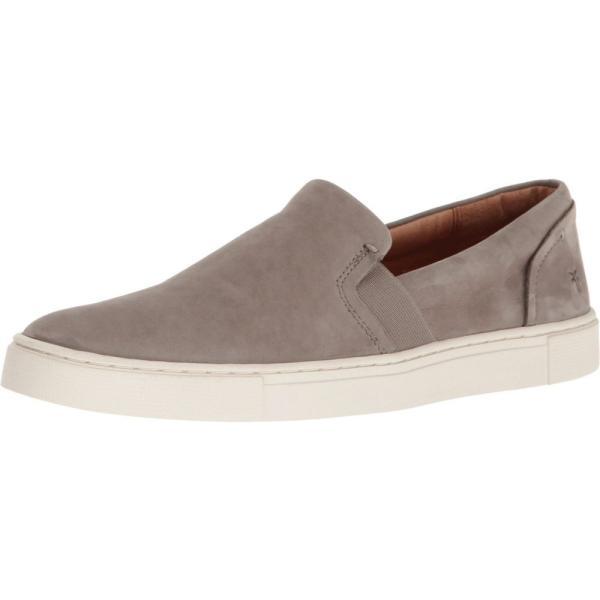 フライ Frye レディース スリッポン・フラット シューズ・靴 Ivy Slip Grey Soft Italian Nubuck