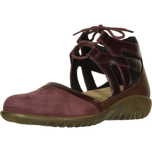 ナオト Naot レディース スリッポン・フラット シューズ・靴 Kata Violet Nubuck/Bordeaux Leather/Toffee Brown Leather