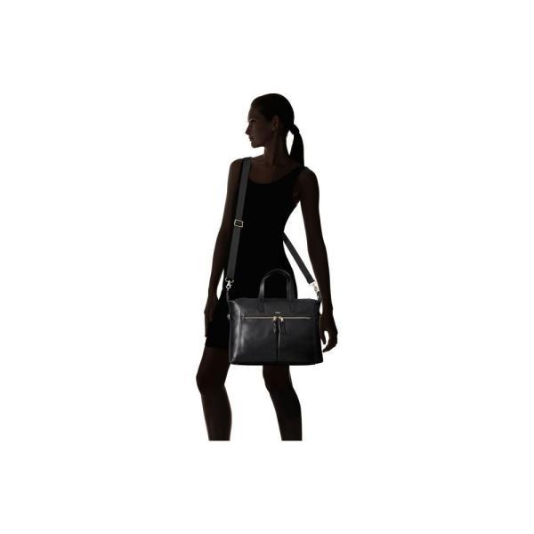 モノ KNOMO London レディース トートバッグ バッグ Mayfair Luxe Audley Slim Brief Tote Black