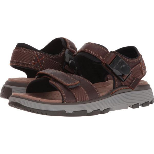 クラークス メンズ サンダル シューズ・靴 UnTrek Part Dark Tan Leather|fermart2-store