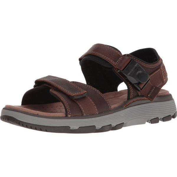 クラークス メンズ サンダル シューズ・靴 UnTrek Part Dark Tan Leather|fermart2-store|02