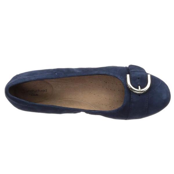 クラークス Clarks レディース スリッポン・フラット シューズ・靴 Neenah Lark Navy Suede