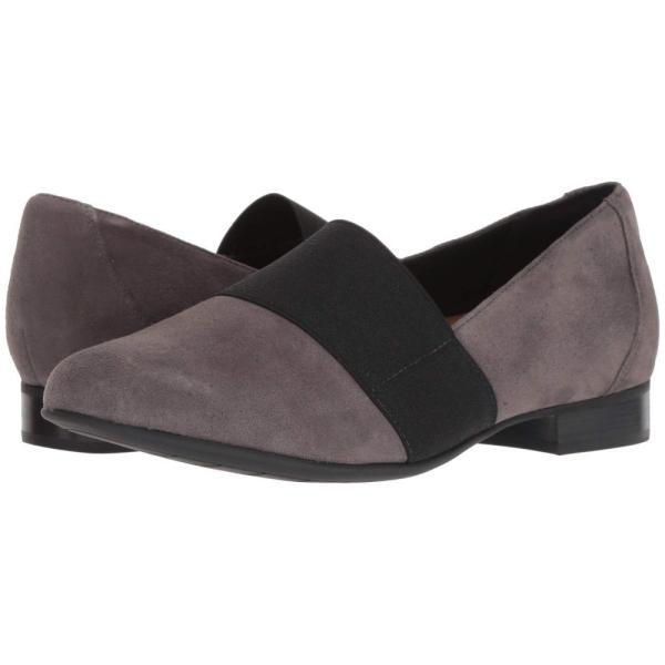 クラークス Clarks レディース ローファー・オックスフォード シューズ・靴 Un Blush Lo Dark Grey Suede