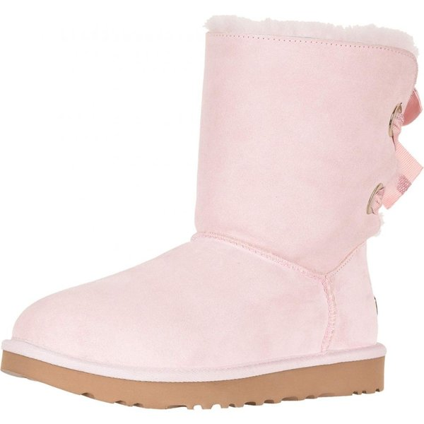 アグ UGG レディース ブーツ シューズ・靴 Customizable Bailey Bow Short Seashell Pink