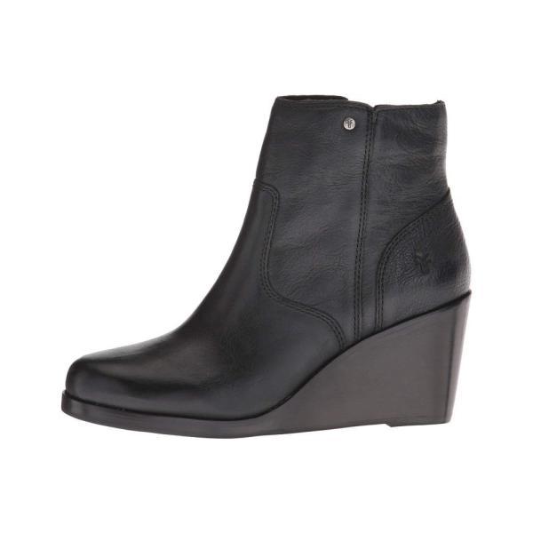 フライ Frye レディース ブーツ シューズ・靴 Emma Wedge Short Black Oiled Pull-Up