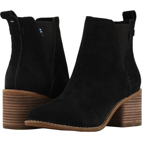 トムス TOMS レディース ブーツ シューズ・靴 Esme Black Suede|fermart2-store