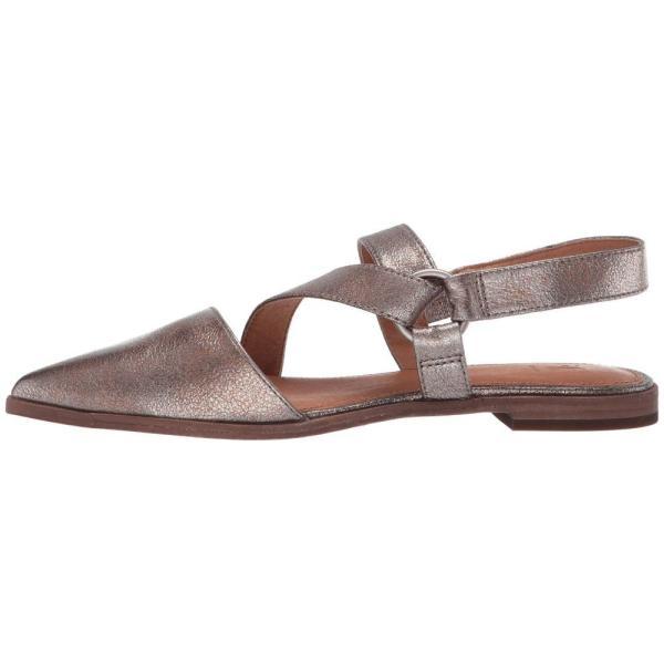 フライ Frye レディース スリッポン・フラット シューズ・靴 Kenzie Strappy Harness Golden Silver Vintage Metallic