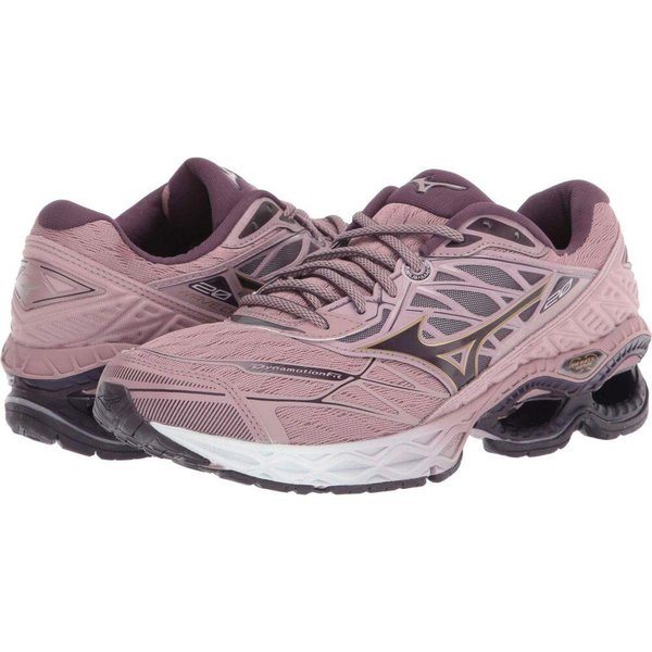ミズノ Mizuno レディース ランニング・ウォーキング シューズ・靴 Wave Creation 20 Woodrose/Plum Perfect