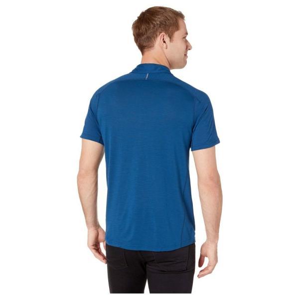 スマートウール Smartwool メンズ トップス Merino Sport 150 Short Sleeve Button Down Alpine Blue|fermart2-store|03