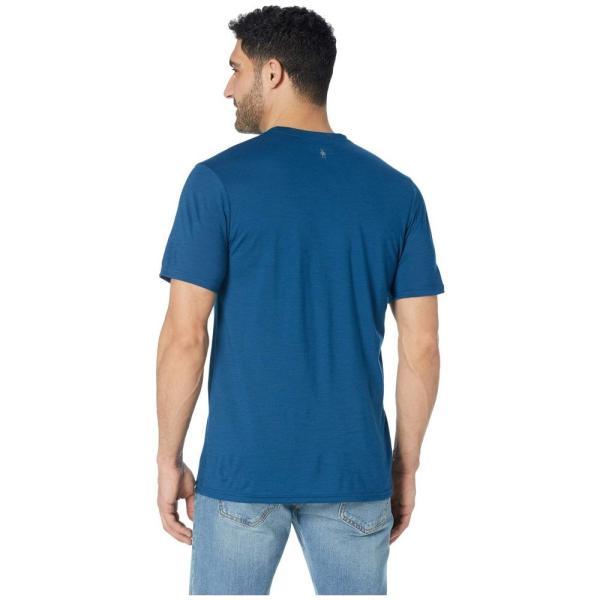 スマートウール Smartwool メンズ Tシャツ トップス Merino Sport 150 Prominent Peaks Tee Alpine Blue|fermart2-store|03
