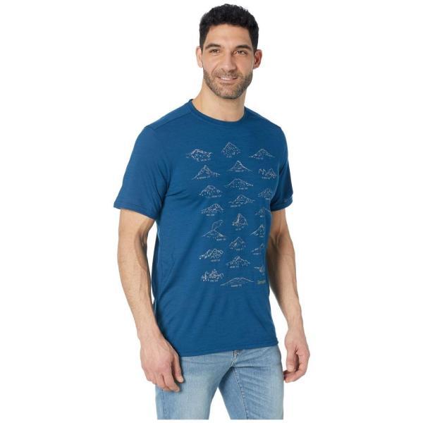 スマートウール Smartwool メンズ Tシャツ トップス Merino Sport 150 Prominent Peaks Tee Alpine Blue|fermart2-store|04
