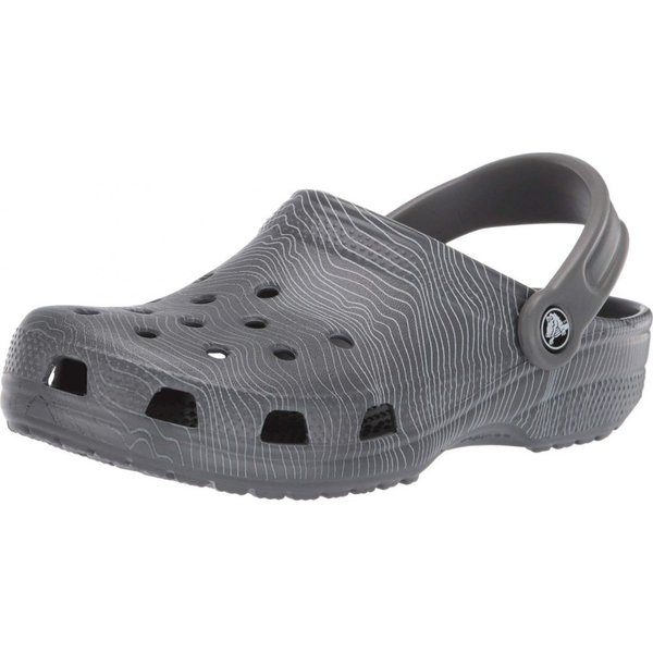 クロックス Crocs レディース クロッグ シューズ・靴 Classic Seasonal Graphic Clog Slate Grey/Light Grey