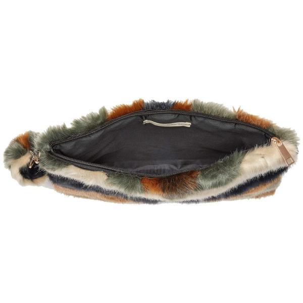 サンディエゴハット San Diego Hat Company レディース クラッチバッグ バッグ BSB3552 Chevron Faux Fur Clutch Multi