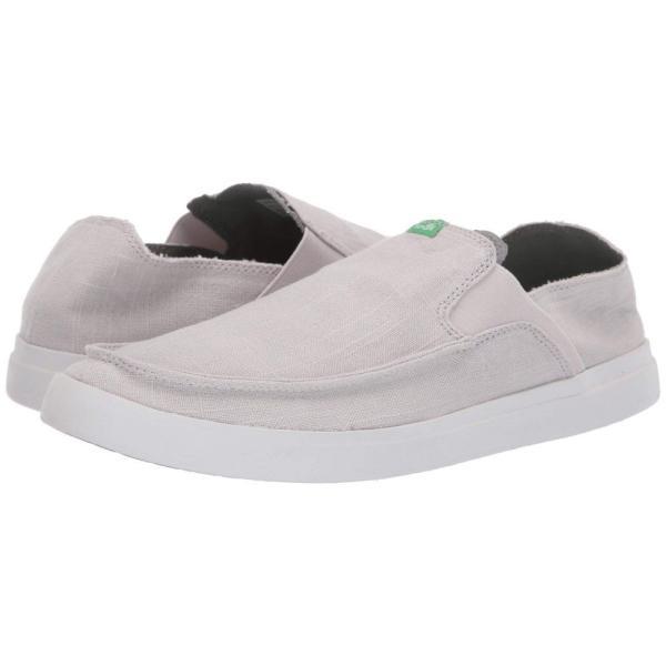 サヌーク Sanuk メンズ スリッポン・フラット シューズ・靴 Pick Pocket Slip-On Linen Grey|fermart2-store