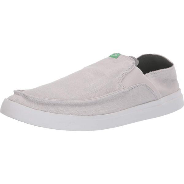 サヌーク Sanuk メンズ スリッポン・フラット シューズ・靴 Pick Pocket Slip-On Linen Grey|fermart2-store|02