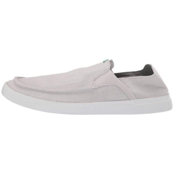 サヌーク Sanuk メンズ スリッポン・フラット シューズ・靴 Pick Pocket Slip-On Linen Grey|fermart2-store|05