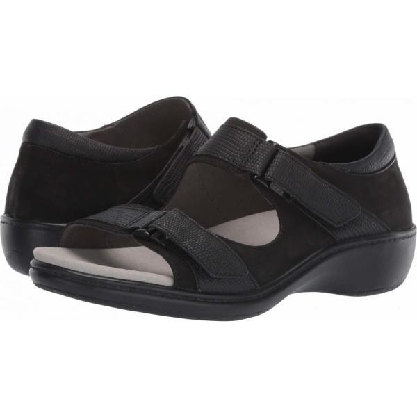 アラヴォン Aravon レディース スリッポン・フラット シューズ・靴 Duxbury Two Strap Black