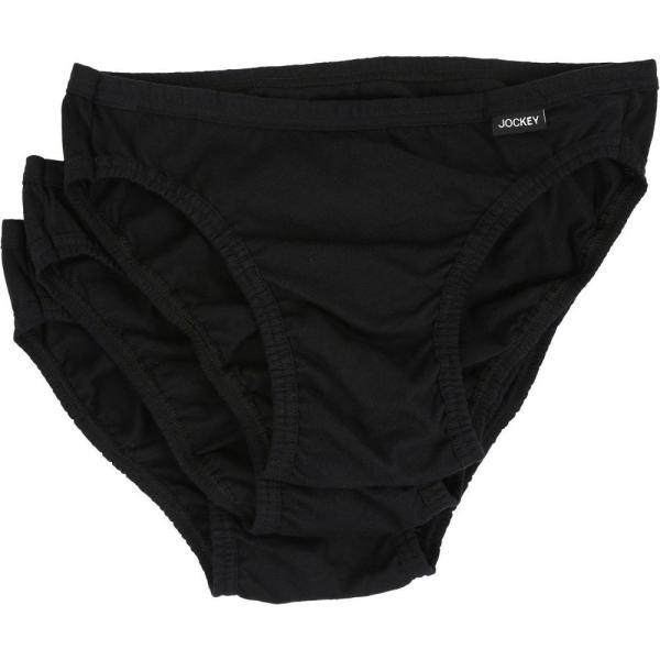 ジョッキー Jockey メンズ インナー・下着 Elance Bikini - 3 Pack Black fermart2-store