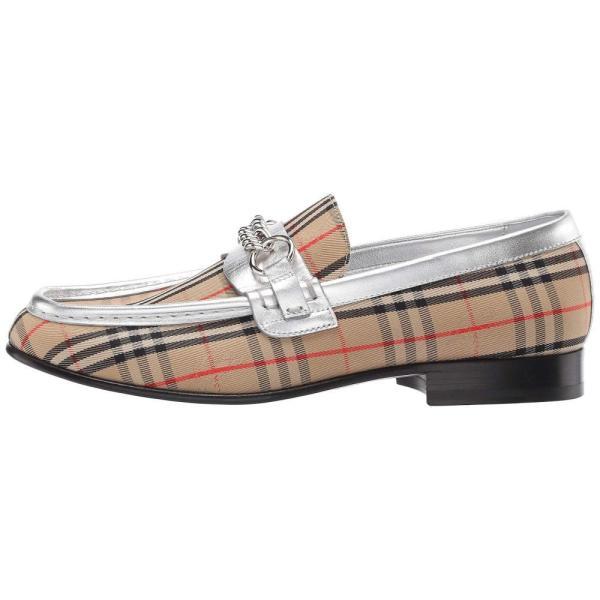バーバリー Burberry レディース ローファー・オックスフォード シューズ・靴 Moorley Chain Silver/Grey