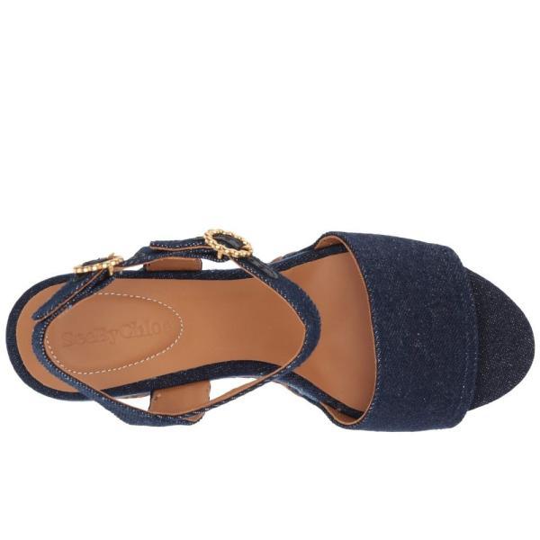 クロエ See by Chloe レディース ヒール シューズ・靴 SB32052A Medium Blue