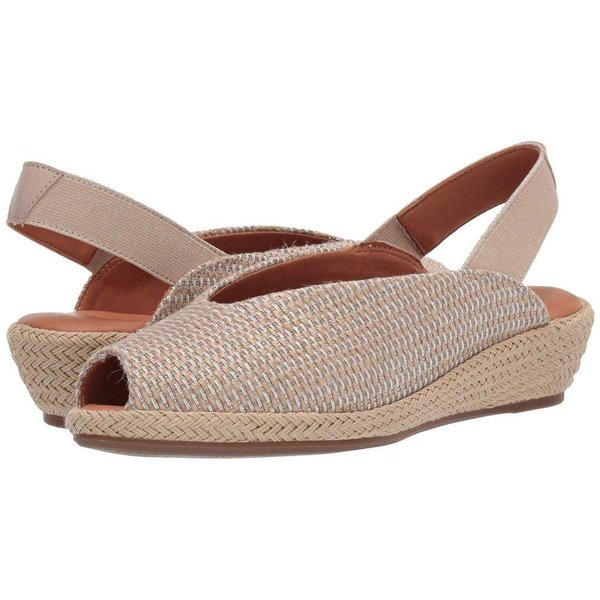 ケネス コール Gentle Souls by Kenneth Cole レディース ヒール シューズ・靴 Luci Slingback Natural/Silver Fabric