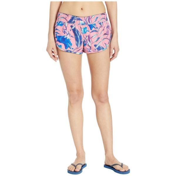 ハーレー Hurley レディース ボトムのみ 水着・ビーチウェア Supersuede Floral Board Shorts Pink Gaze|fermart2-store