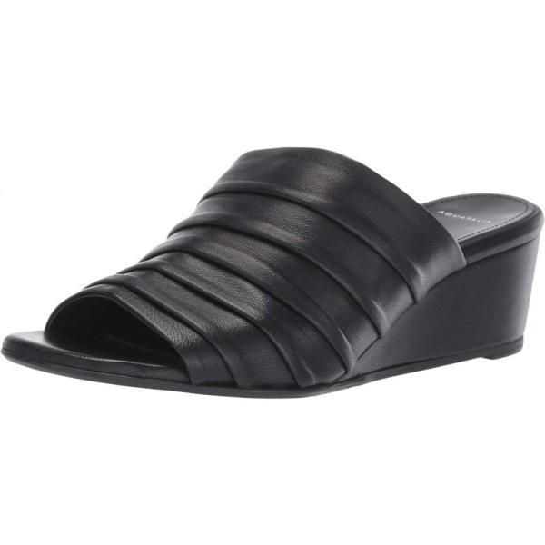 アクアタリア Aquatalia レディース サンダル・ミュール シューズ・靴 Kristina Black Soft Nappa