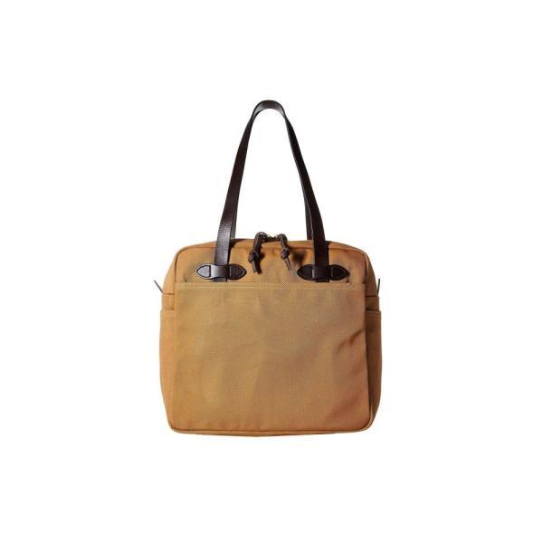 フィルソン Filson レディース トートバッグ バッグ Rugged Twill Tote Bag with Zipper Tan