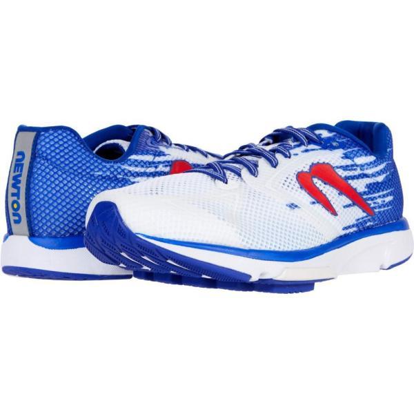 ニュートンランニング Newton Running メンズ ランニング・ウォーキング シューズ・靴 Distance 10 White/Royal Blue