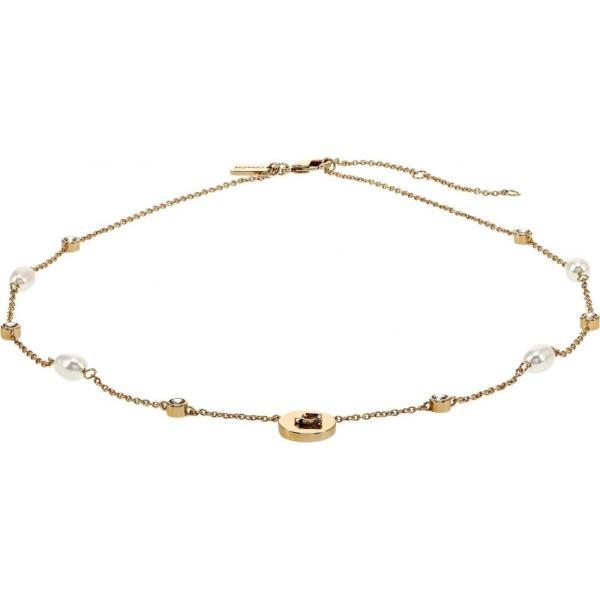 コーチ COACH レディース ネックレス ジュエリー・アクセサリー Pearl Short Station Necklace Pearl